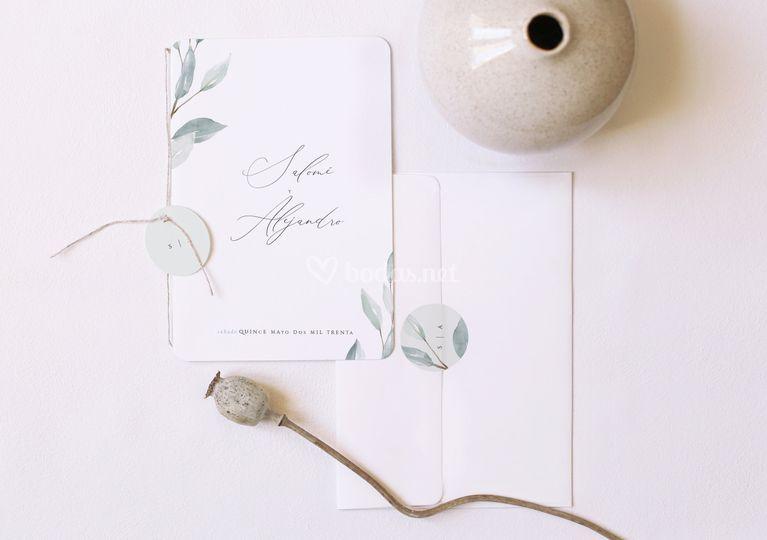 Invitación de boda birhueg