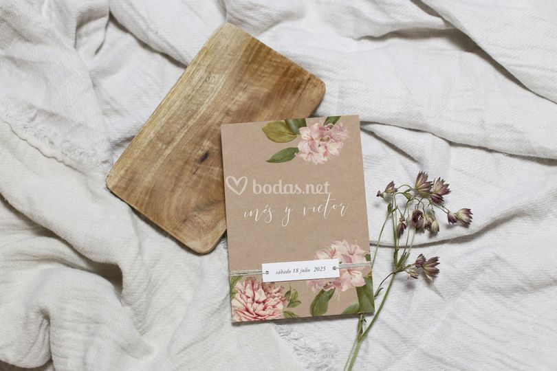 Invitación de boda - floral