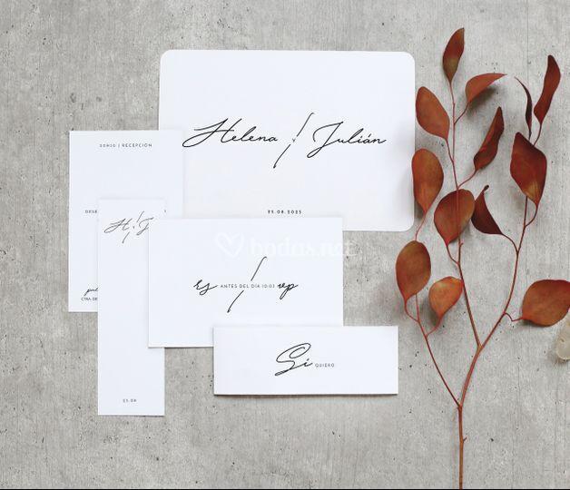 Invitación de boda minimal
