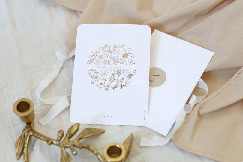 Invitación de boda - oro