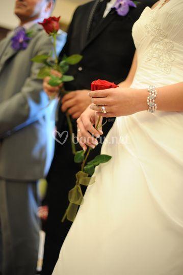 Ceremonia con rosas