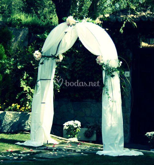 Arco sencillo para ceremonia