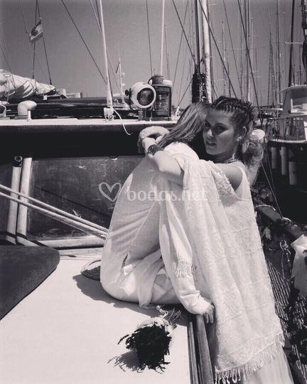 Boda en un barco velero