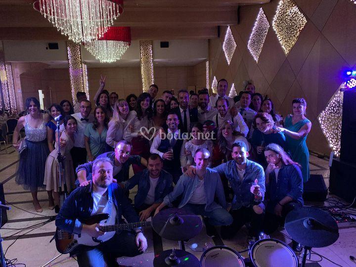 Foto familia boda