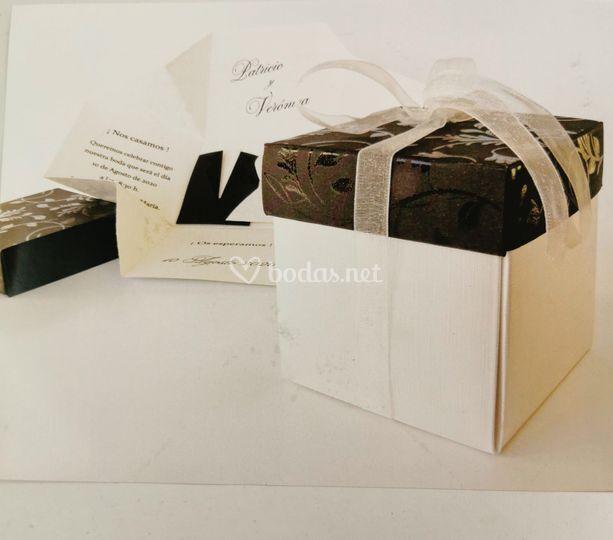 Invitación con caja