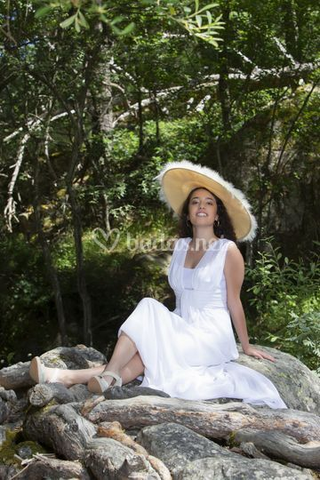 Vestido de novia en gasa