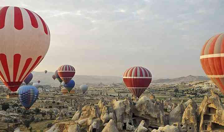 El globo por la Capadocia