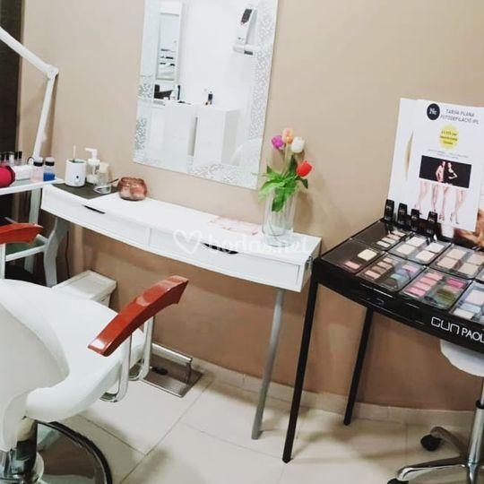 Zona de maquillaje
