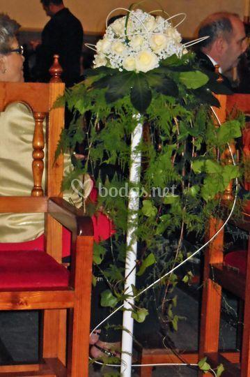Arreglo floral para la iglesia