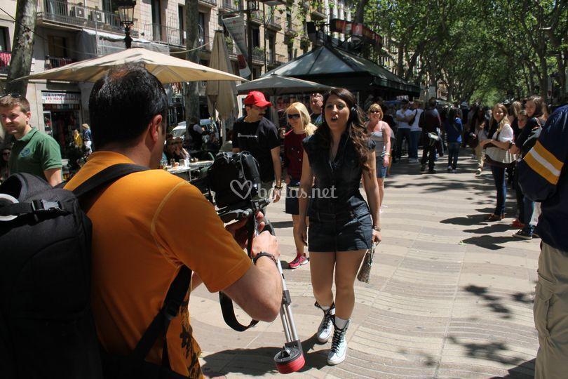 Rodaje de videoclip en Barcelona