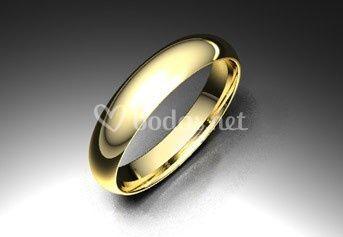 Alianza de oro amarillo