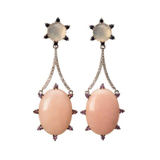 Oro blanco y cuarzo rosa