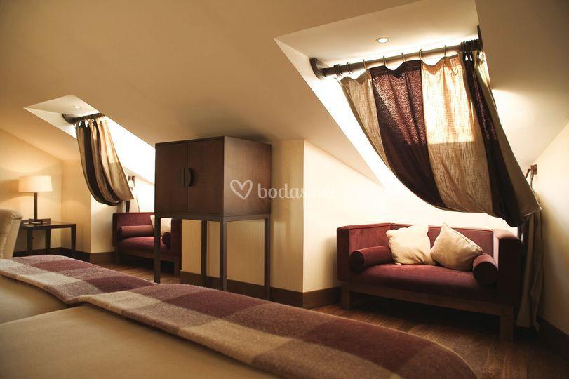 Detalle de las habitaciones