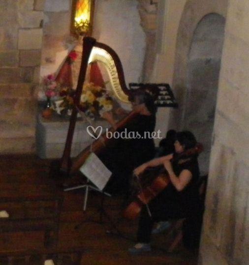 Dúo de arpa y violoncello