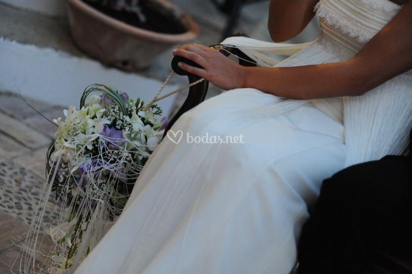 Ramo de novia esférico