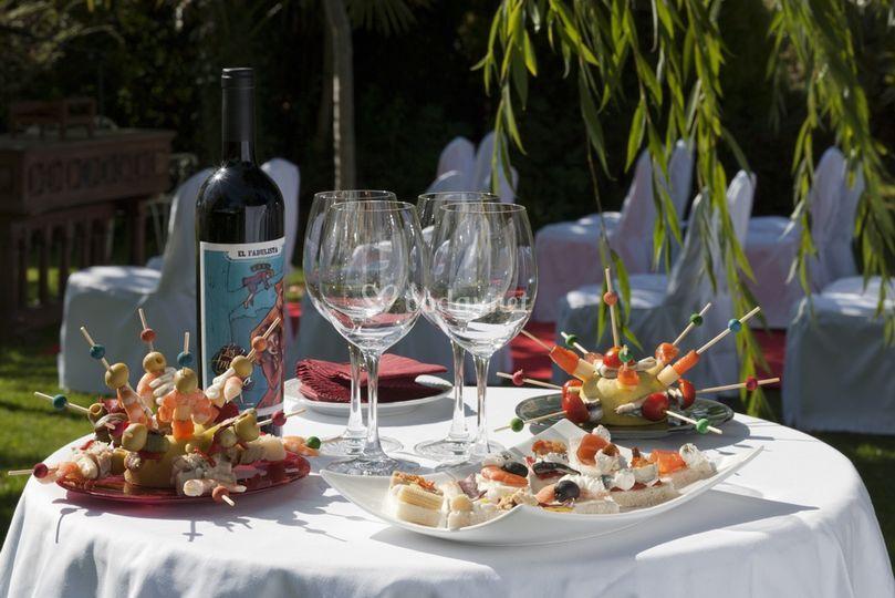Cocktail Lunch en jardin
