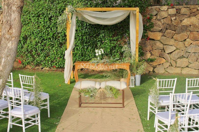 Detalle de ceremonia civil