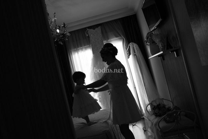 Novia y hija