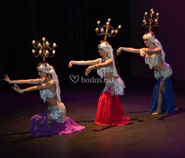 Espectáculo de danza oriental
