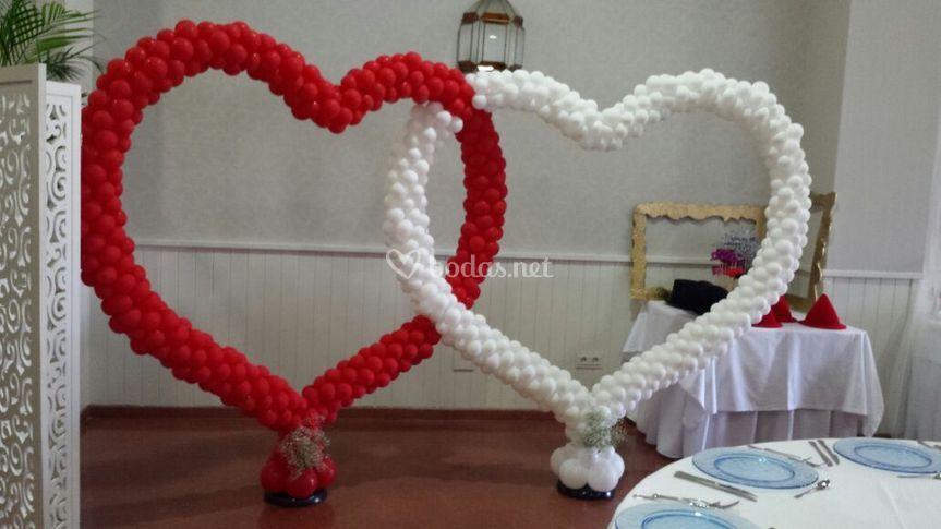 Photocall de corazones