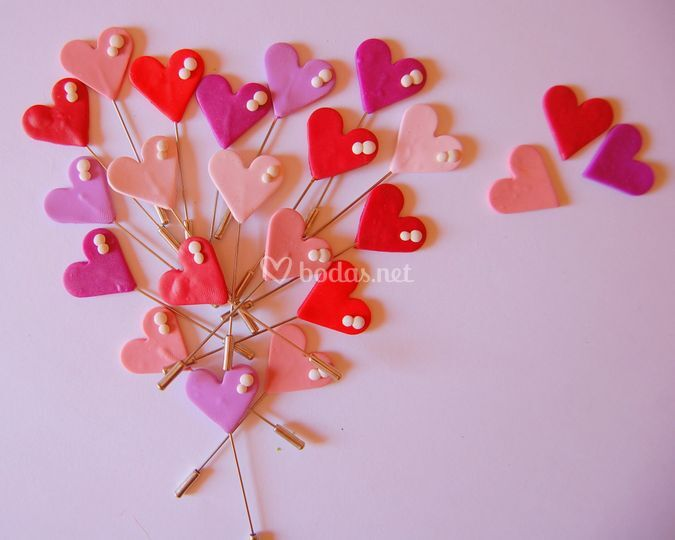 Alfileres corazón