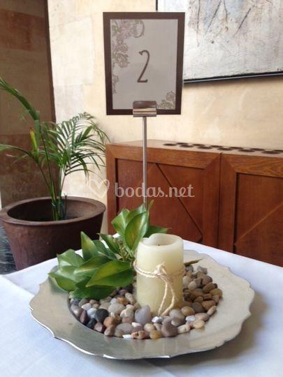 Decoración para las mesas