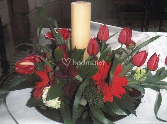 Centros de flores para las mesas