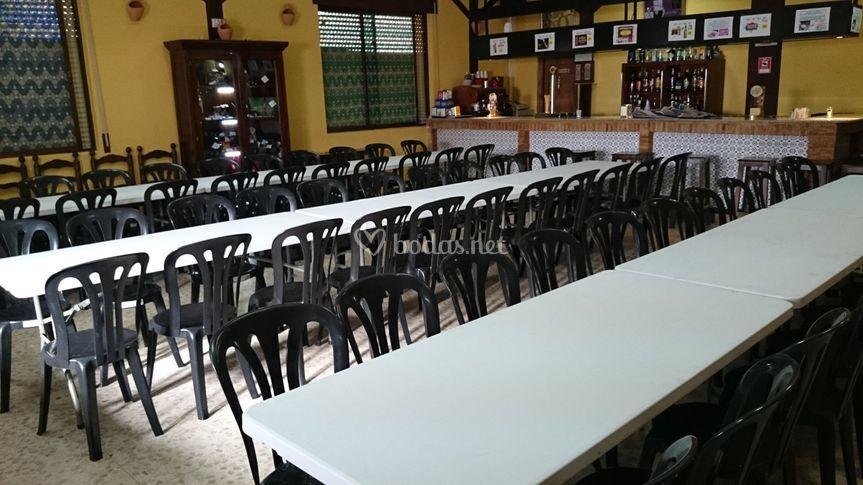 Mobiliario para cena de empresa