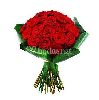 Bouquet con 25 rosas