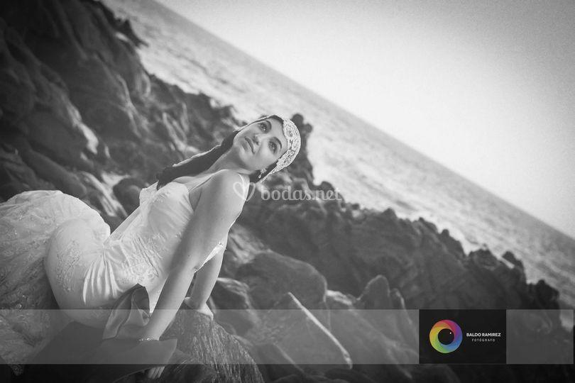 Momento en playa de Torrox