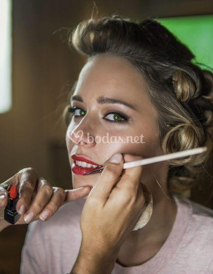 Novia makeup