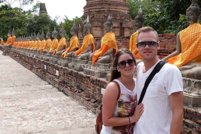 Ayutthaya - Andrea y Oscar