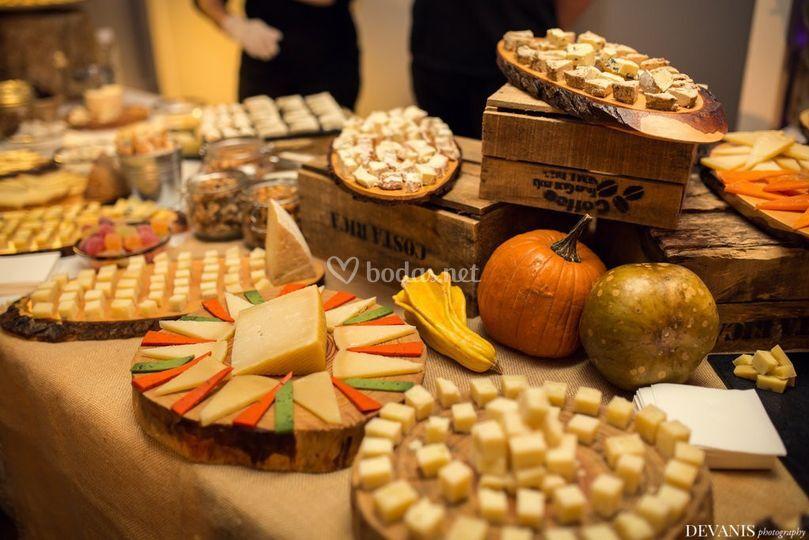 Mesa especial quesos