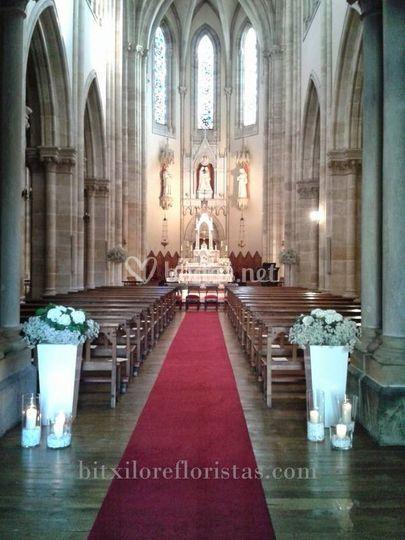Decoración de iglesia Salesas