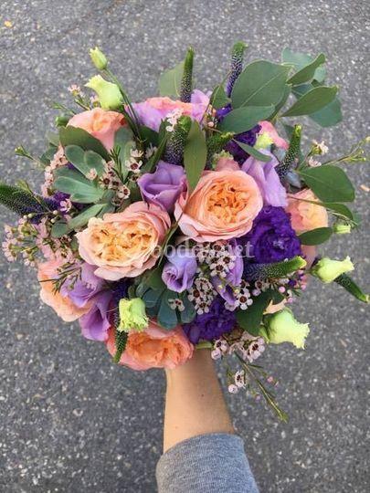 Bouquet de rosas austin