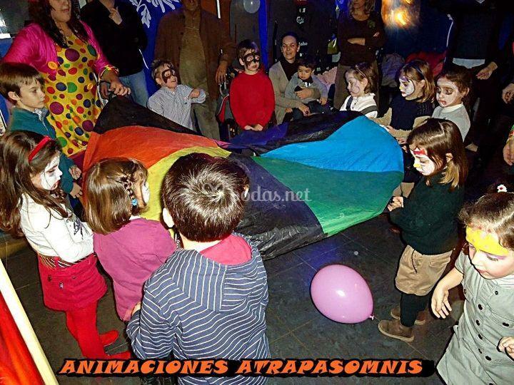 Paracaidas de colores