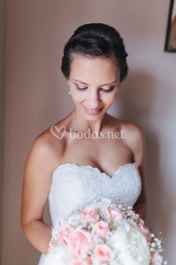 Maquillaje de novia sutil