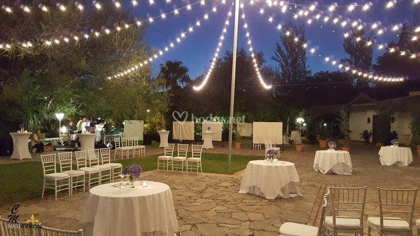 Iluminaci n especial terraza de los jardines de sansue a - Iluminacion terraza ...
