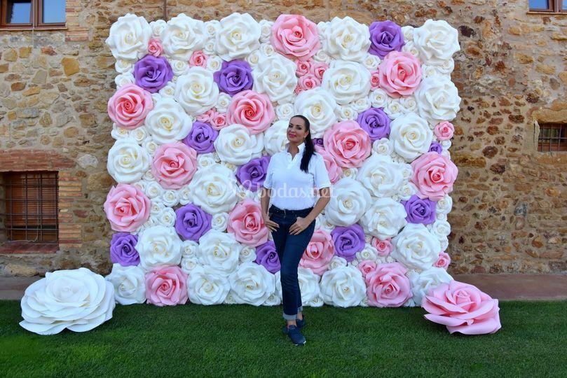 Photocall de flores 2,5x3 m