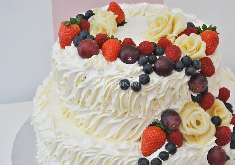 Tarta de crema de choco blanco