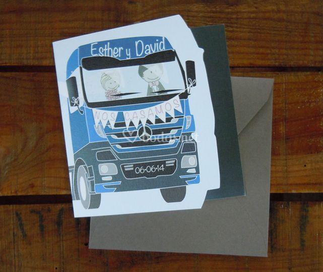 Invitaciones de camión