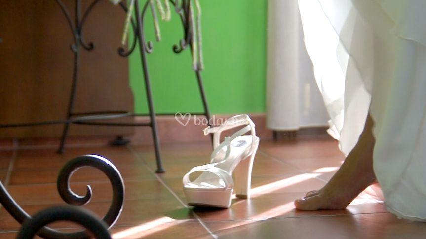 Zapatos y luz