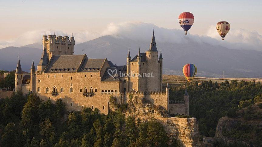 Paseo en globo en Alcázar de Segovia