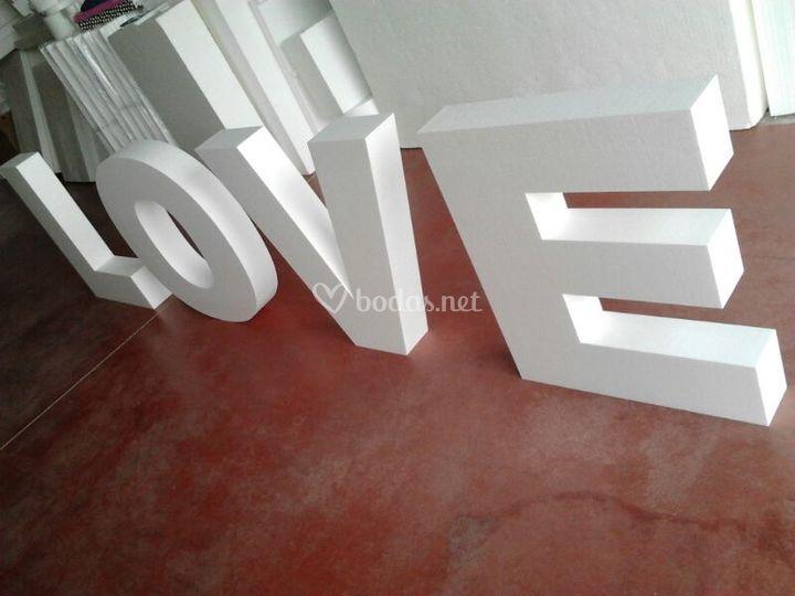 Letras 3d love de poliespan