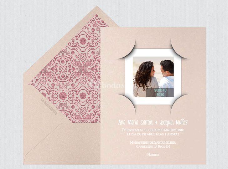 Invitación de boda foto