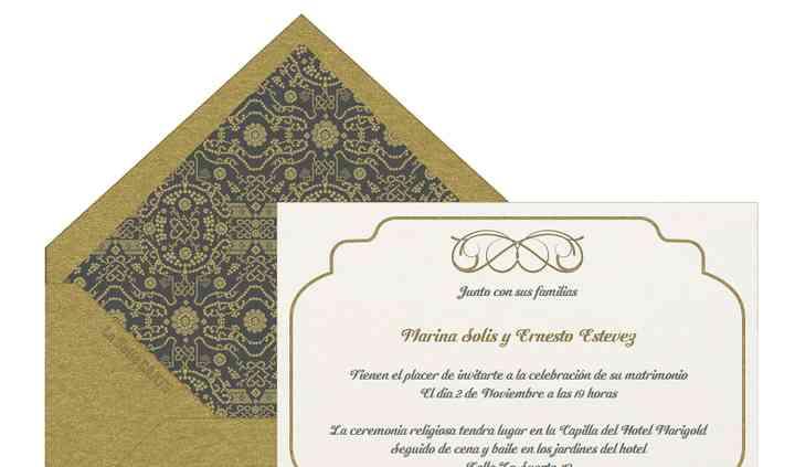 Invitación de boda chevron