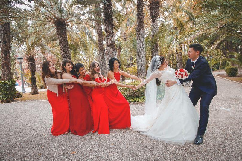 Amigas de Estela en la boda