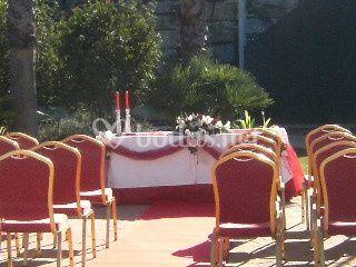 Ceremonia civil en el exteior