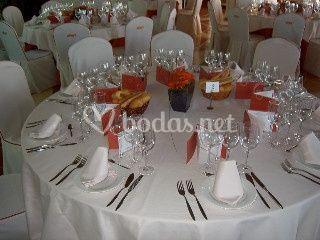Montaje mesa de boda