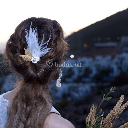 Aplique Alba (plumas)